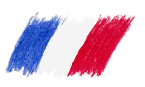 Drapeau français en crayonné